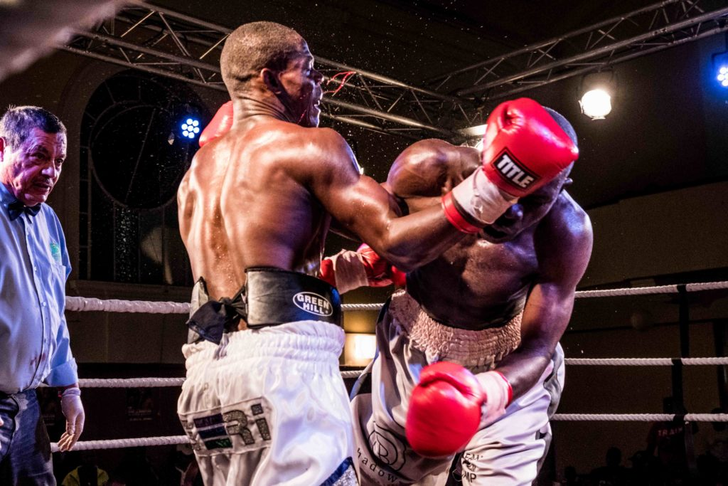 black african male boxers fighting